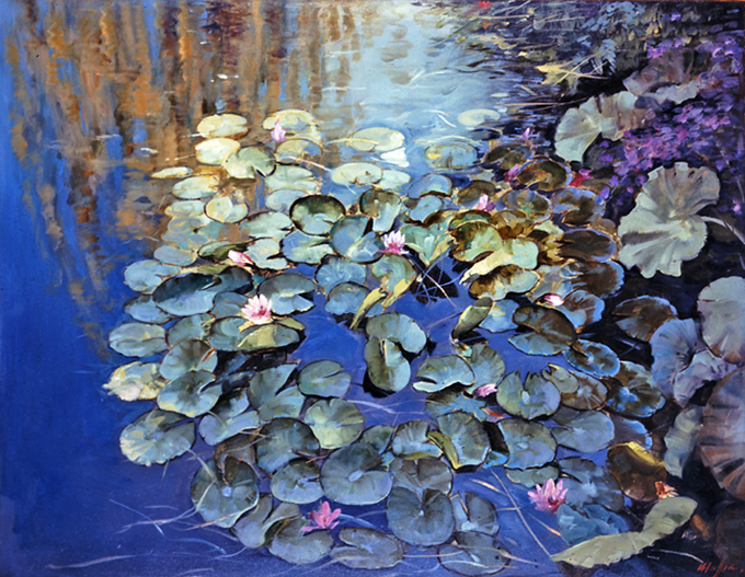 Lily Pads, oil on canvas 40inX50in