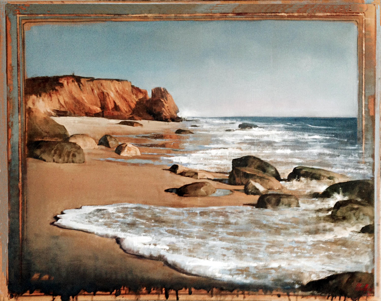 Beach, oil on canvas 40inX50in