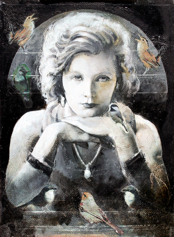 Garbo, oil on panel 16inX12in