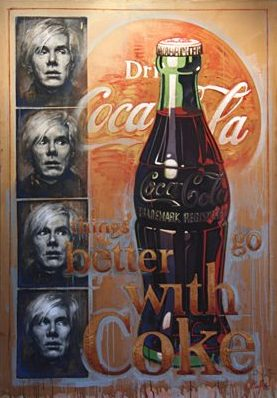 Warhol and Coke II, oil on canvas 72inX50in