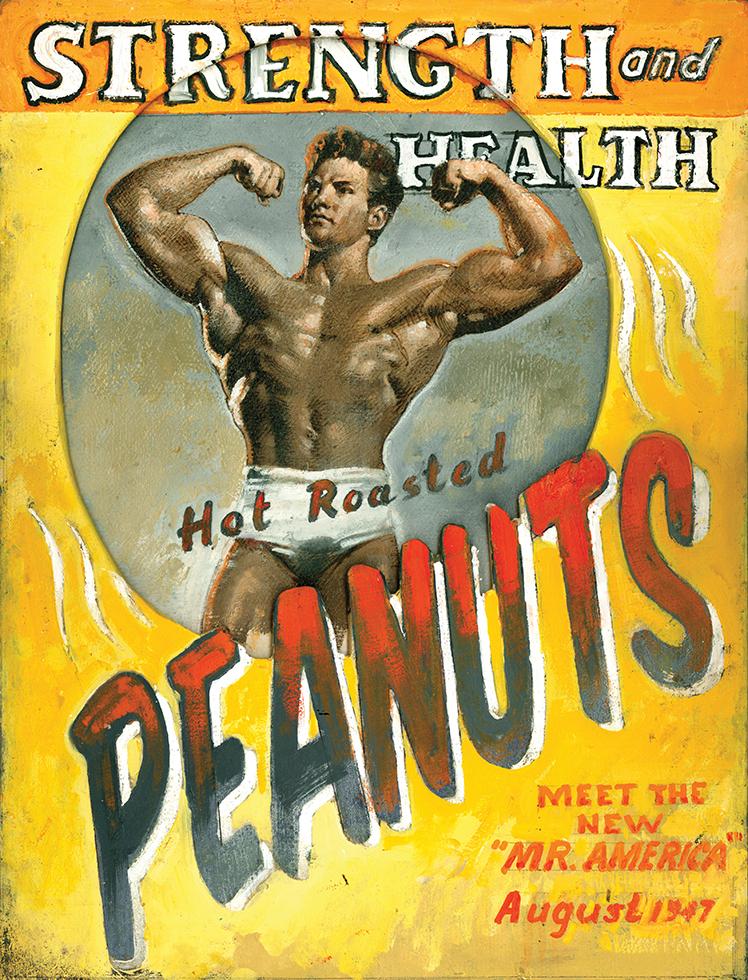 Peanuts, oil/panel 16inX12in N/A