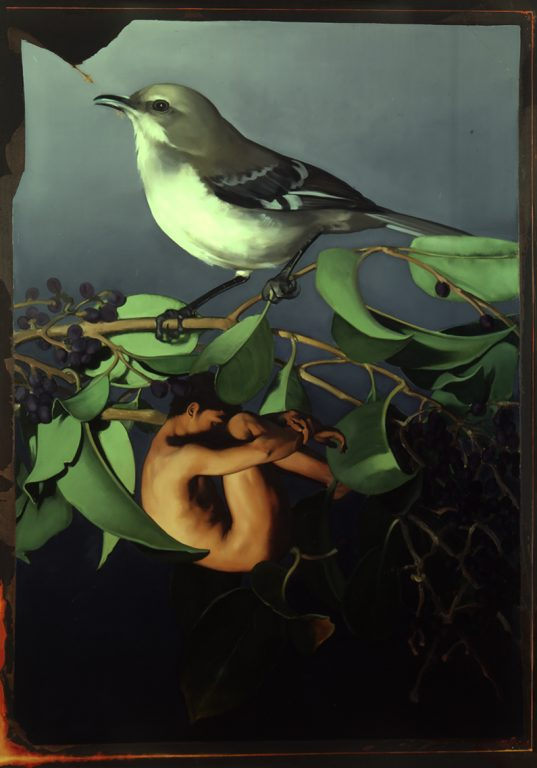 Bird and Nude, oil on canvas 78inX58in