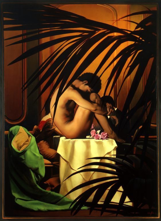 Nude on Table, oil on canvas 78inX58in