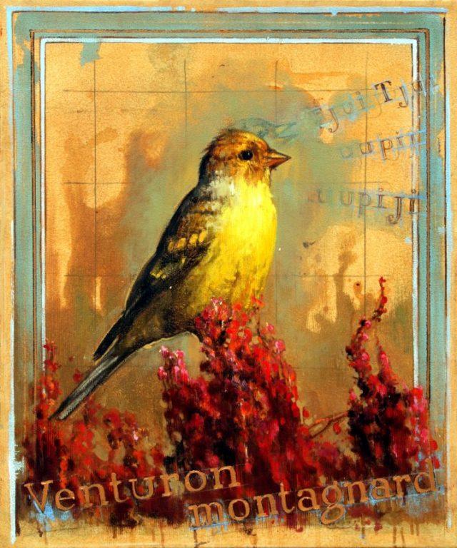 Venture montagnard, oil on canvas 36inX30in