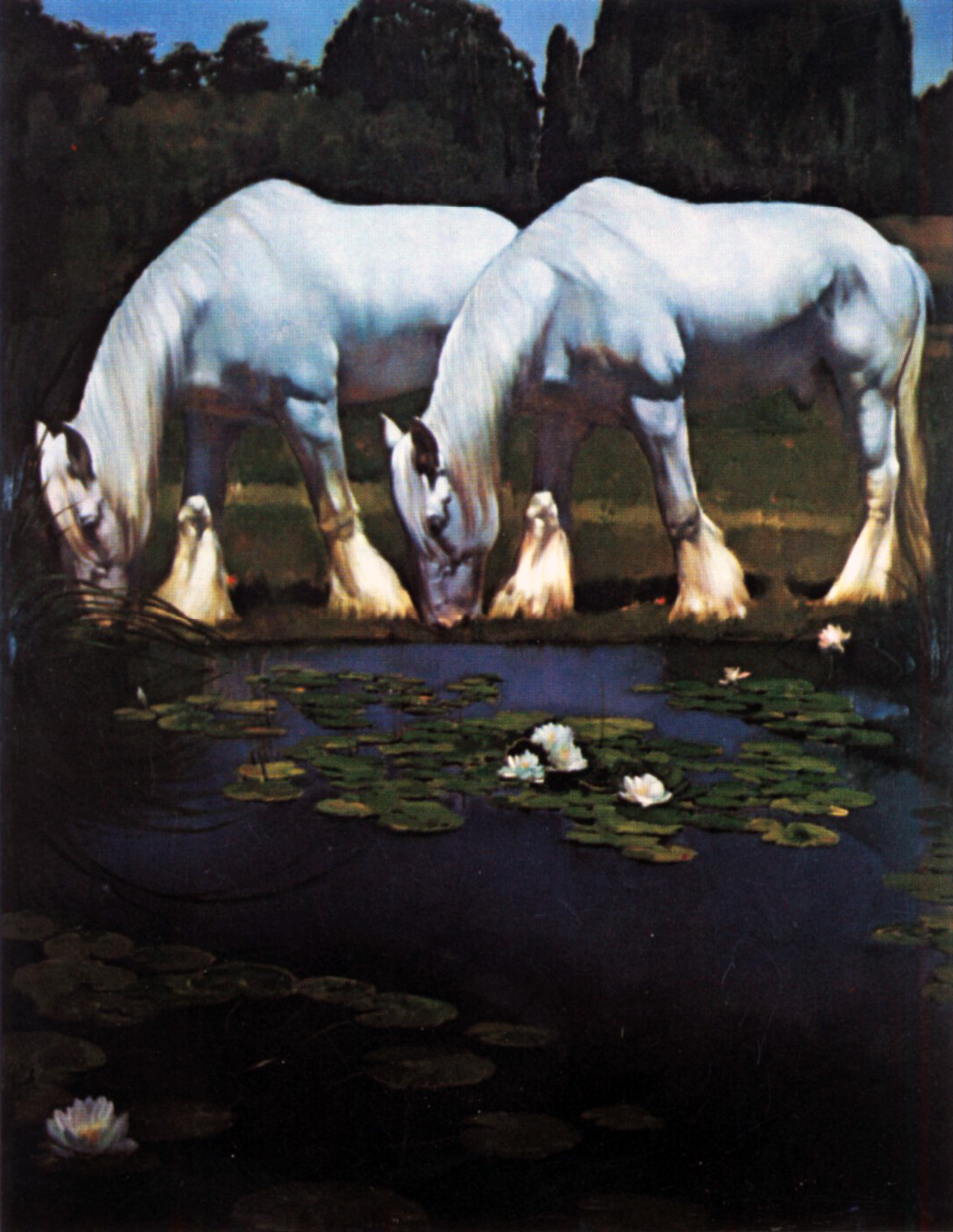 White Horses, oil on canvas 58inX78in N/A