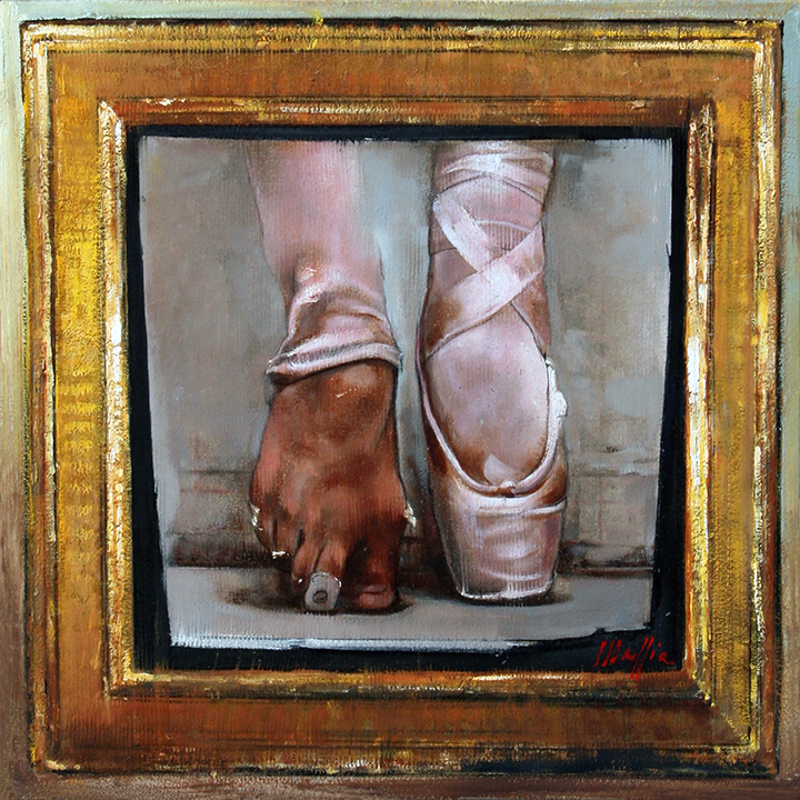 Ballet and Frame, oil on canvas 24inX24in
