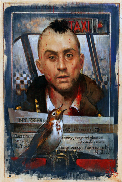 Taxi Driver, oil on canvas 36inX24in