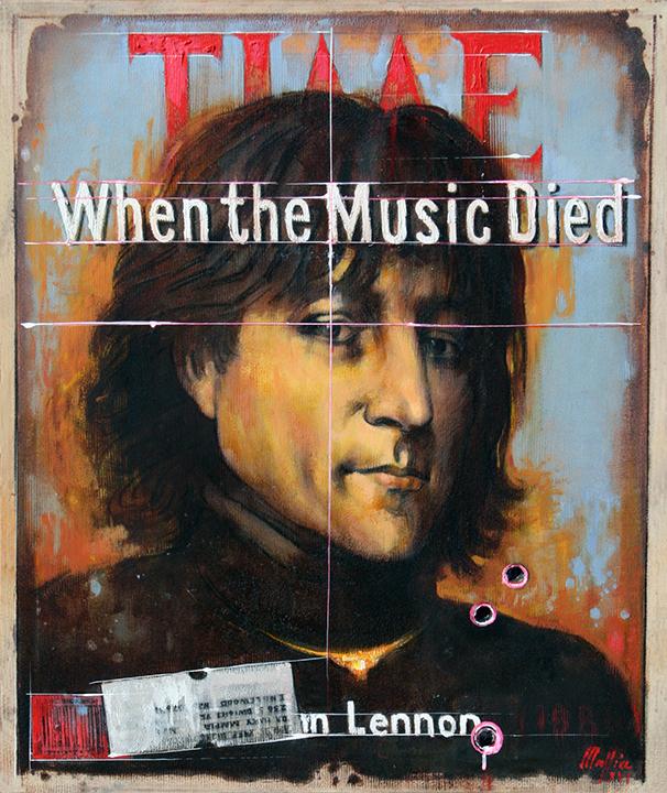 John Lennon,oil on canvas 36inX30in